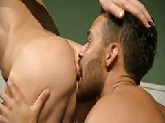Bear doctor licks out firm crack slit