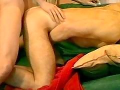 Amateur gay guys take part in anal act of love