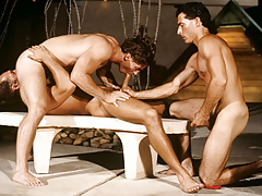 Resort guest Alex Kincaid takes a three-way sex crack muff !