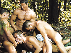 4 Deputies Are Opening Logan's Tight Mouth And Round Ass.