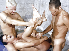 Masculine hotties Matt Majors, Spike & Mark Rockwell fuck