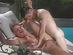 two sex-crazed guys giving heavy fulfillment to one another