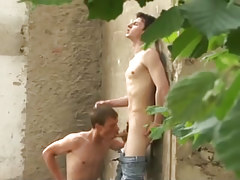 Wild young twink twinks fucking massive outdoors in 2 episode