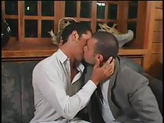 Husky man-lover men smoking in hotel in 1 episode
