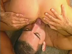 Handsome beefy studs have steamy session on floor