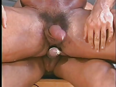 Gay muscle studs have hot anal in garage in 7 movie