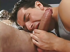 Man-lover anal sex in gym with messy after everything else. in 2 video
