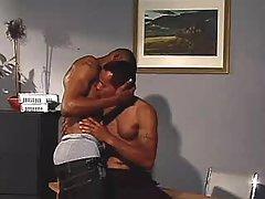 Nasty black homosexuals anal-fucking heavily