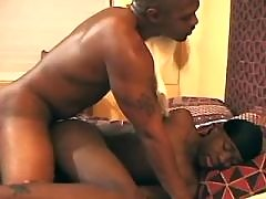 Black homosexual cunt serving sexually aroused hunk