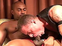 Black submissive serves lusty mature gay