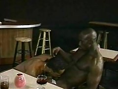 Beefy black male winning mighty knob