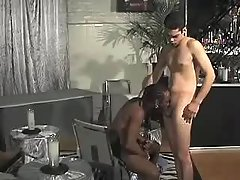 Black boy pounds excited gay guy bitch