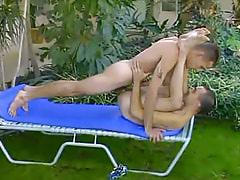 Nice gay guy creazy drills friend outdoor