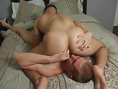 Sexy gay spreads butt cheeks for boy-friend