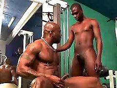 Black gay guy purchases hard waste nailing
