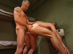 Horny mature prisoner bangs poor boy