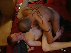 Naughty dilf intense fucks redhead homo