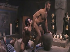 Hairy gay licked by muscle Arabian boo in pyramid