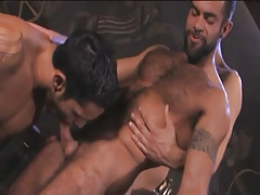Hairy Arabian homosexual guys mouth dicks in pyramid