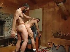 Hairy gay men heavy fuck in doggy style