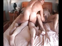 Fat ripe homosexual guys fuck in group
