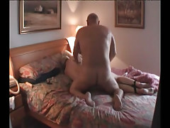 Fat mellow homosexual guys fuck in bed