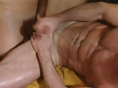 Hairy gay jizzes with shlong in apple bottoms