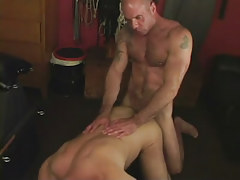 Hairy dilf fucks grown boyfriend in doggy style