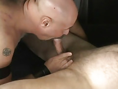 Hairy boy sucks his mature boyfriend