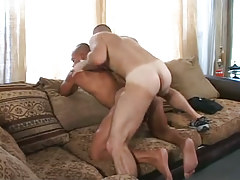 Hairy man-lover humps latin man-lover in doggy style